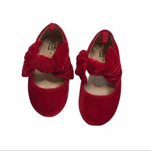 Gap Red Velvet Shoes